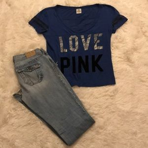 Victoria's Secret t-shirt w: free jeans